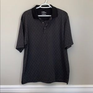 Men's PGA tour shirt sleeve black polo